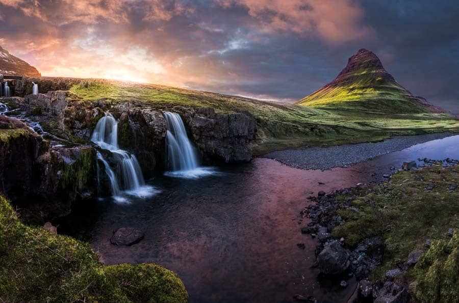 This is a picture I (Jim Harmer) took in Iceland.  Being in this gorgeous location made me feel closer to God.
